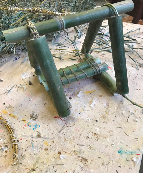 The miniature working model of A.T.'s bamboo chair