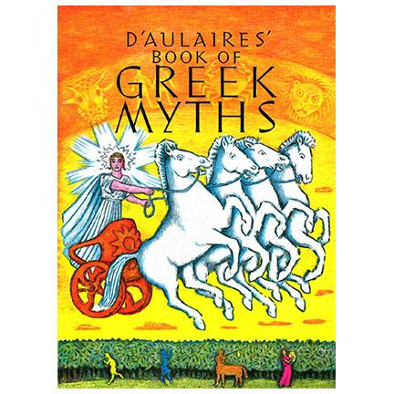The cover art for the book: D'Aulaires' Book of Greek Myths.