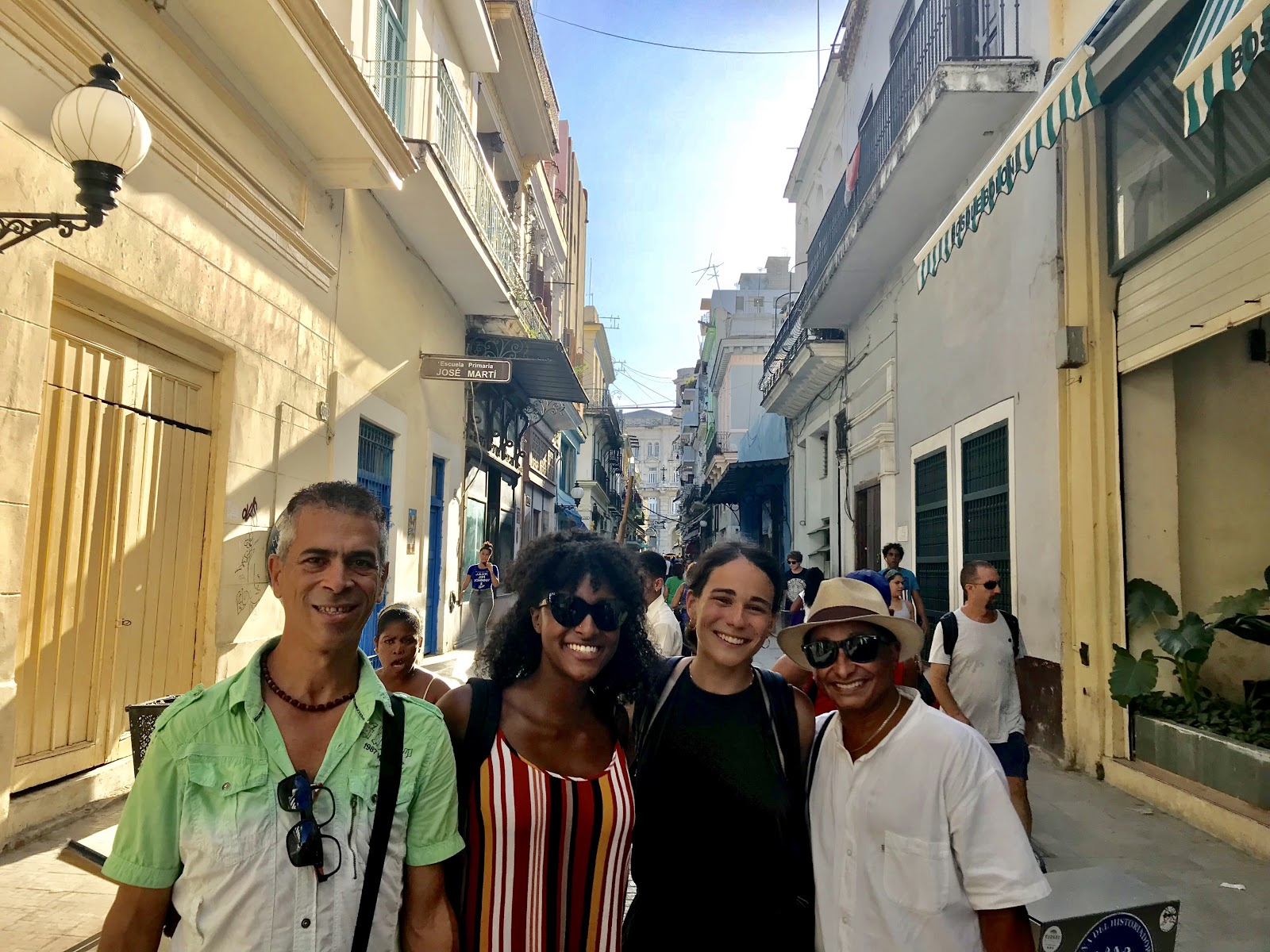 Wilfredo, Essence, Dani, and Isver on the streets of Cuba