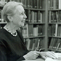 Portrait of Susanne Langer, one of America's preeminent philosophers.