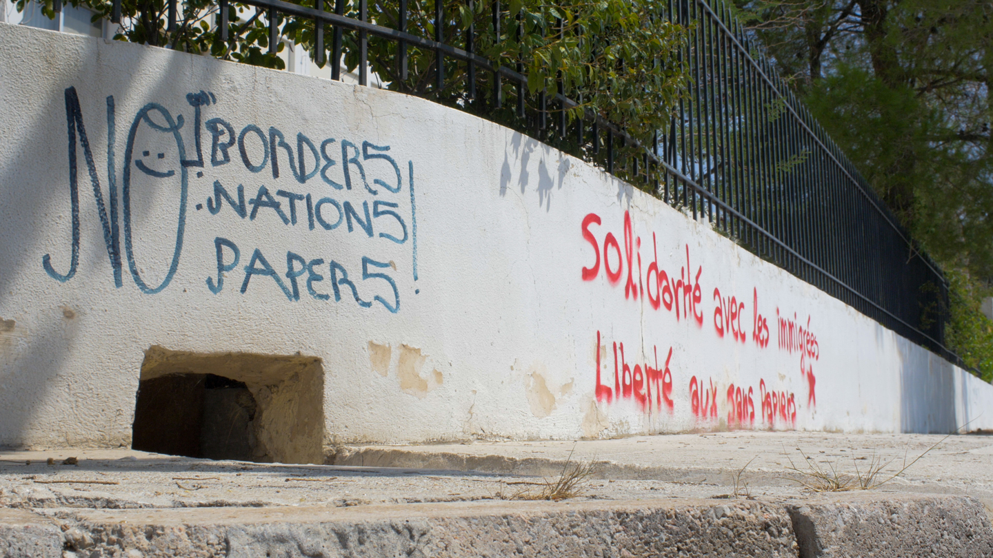 A welcome wall in Athens, Greece.