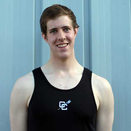 A Connecticut College file photo of Michael Clougher '15, who served as captain of the rowing team for two years. Clougher will represent the United States at the 2017 World Rowing Championships in late September.