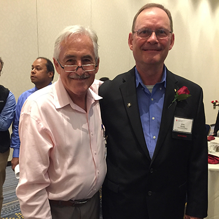 Campus Safety Officer Eric Roode, right, with Stephen George at the Sept. 14 American Red Cross Connecticut Heroes Luncheon